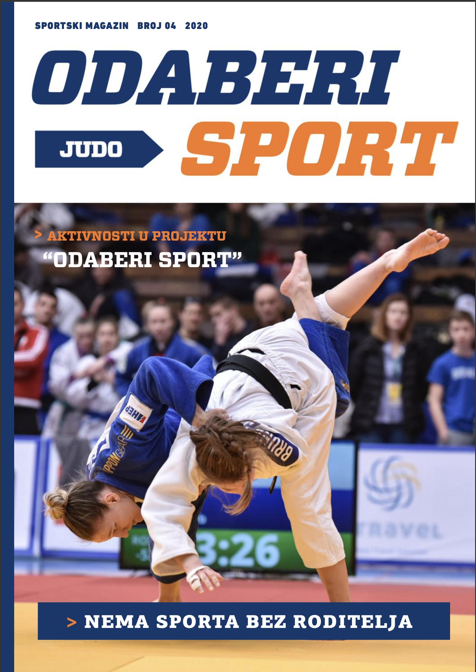 Odaberi sport: Judo - broj 4